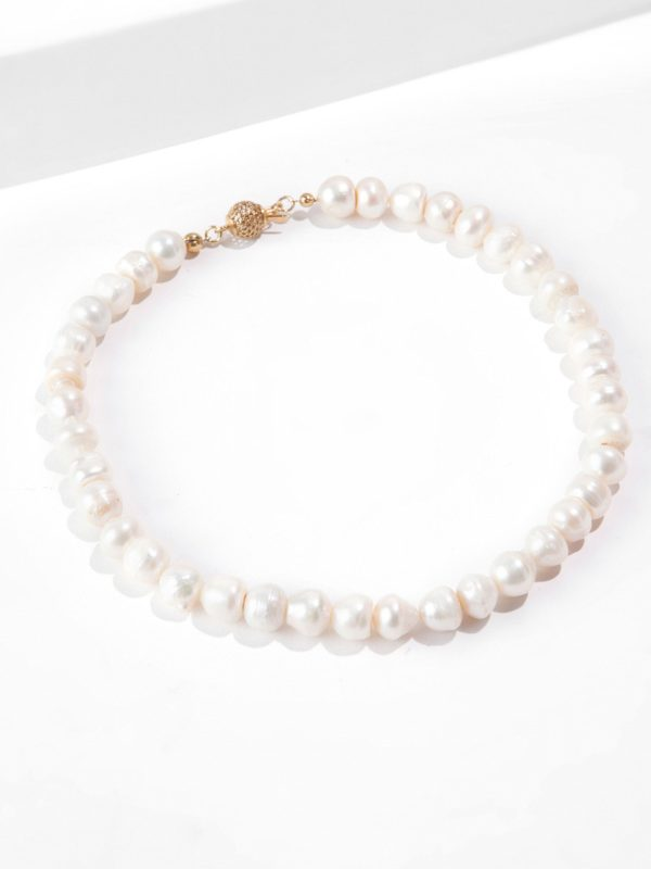 GOLD SAND PEARL NECK