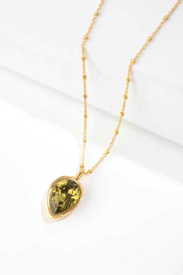 FIG TREE gold pendant
